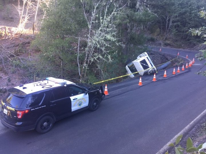 CHP: Milk Truck Overturns Navigating Curve on Highway 36