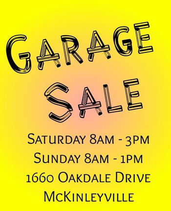Image for Garage Sale