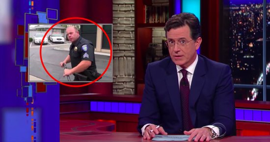 Fortuna's New Police Chief is Trained to Use Nunchucks, Much to the Delight of Stephen Colbert