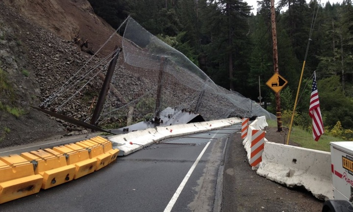 HIGHWAY 101 UPDATE: Slide 'Very Active': Caltrans Suggests