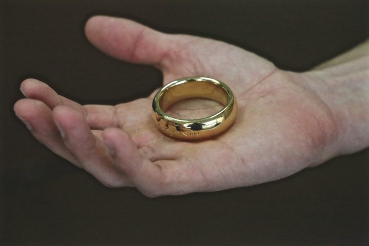 One ring to rule them all wedding ring