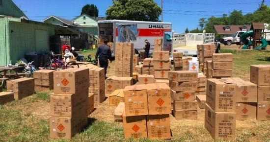 CAL FIRE Seizes More Than 10,000 Pounds of Illegal Fireworks From a Home in Eureka