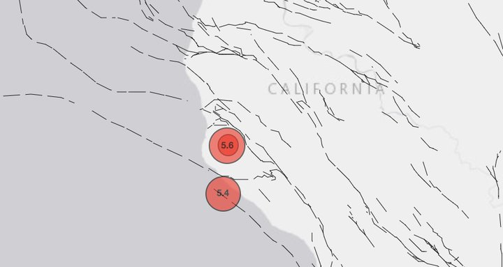 Magnitude 5.6 Earthquake Rattles NorCal Saturday Night