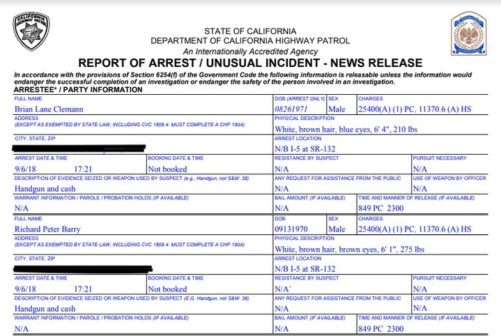 chp incident report - Falco ifreezer co