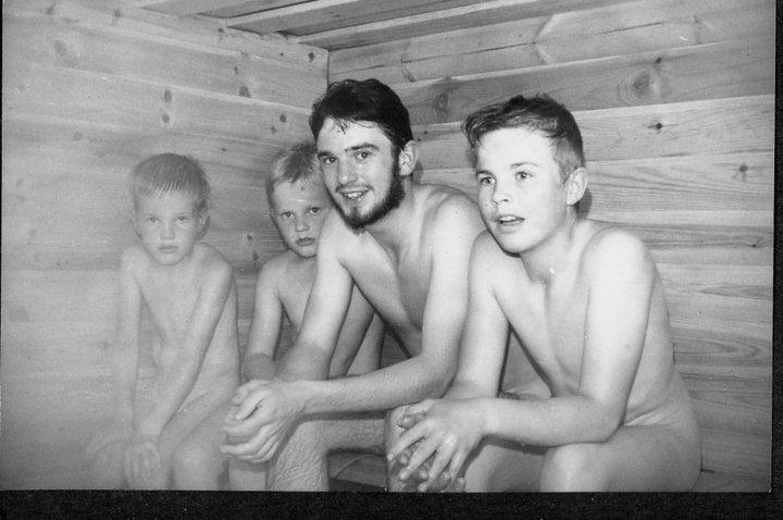Boy sauna nudist skype