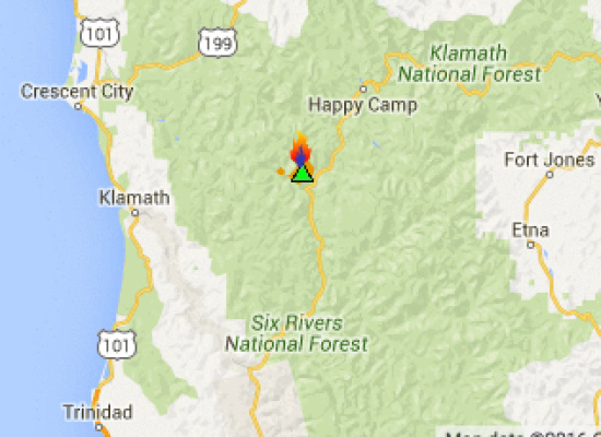 Gas Station Near My Location >> Pony Fire Near Happy Camp Grows to 2,300+ Acres (MAP ...