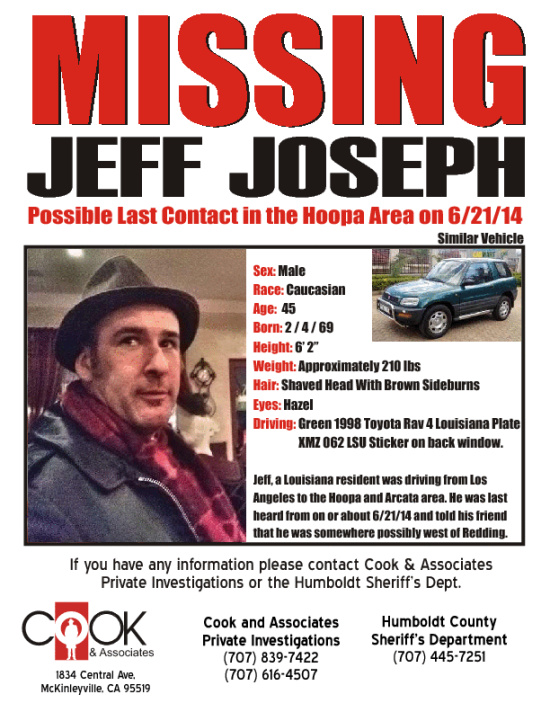 Missing Mans Phone Last Pinged off Bloody Camp Cell Tower Near – Missing Person Flyer