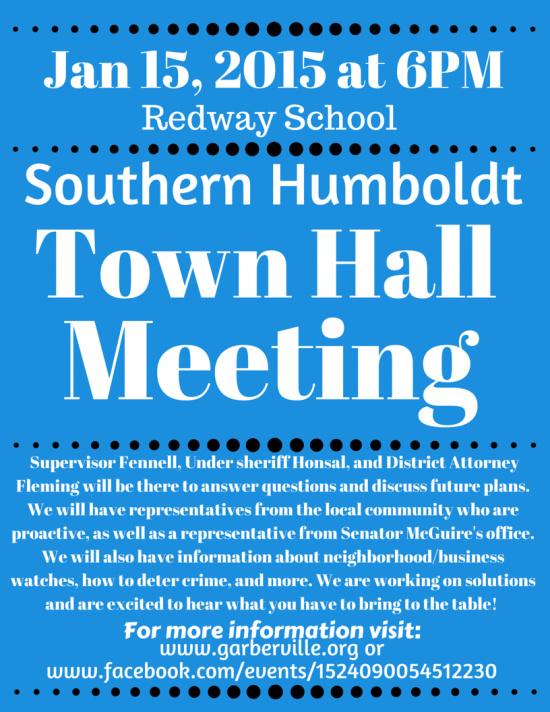 Southern Humboldt Town Hall Meeting – Redheaded Blackbelt