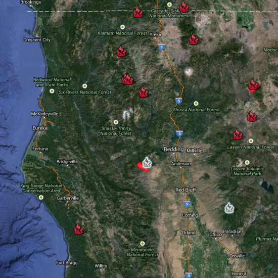 Cal Fire Map >> Multiple Fires Strain Critical Resources in Humboldt County | Lost Coast Outpost | Humboldt County