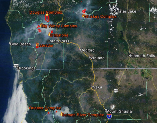 Fires And Smoke Across Northern California Lost Coast Outpost