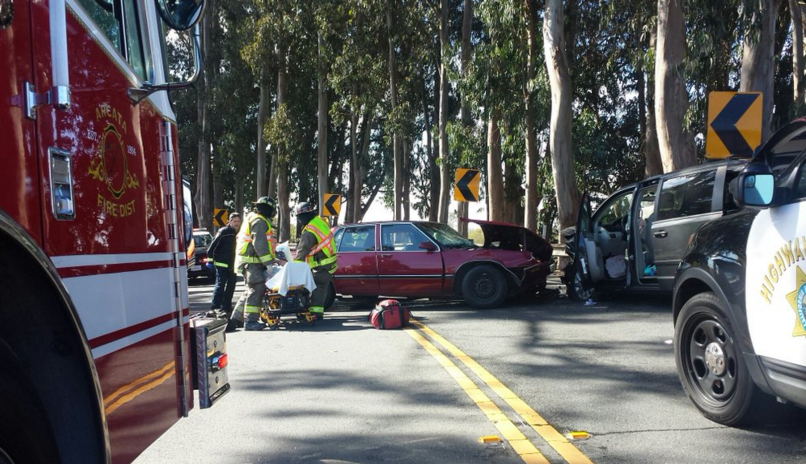 Two-Vehicle Accident on Highway 299 in Arcata