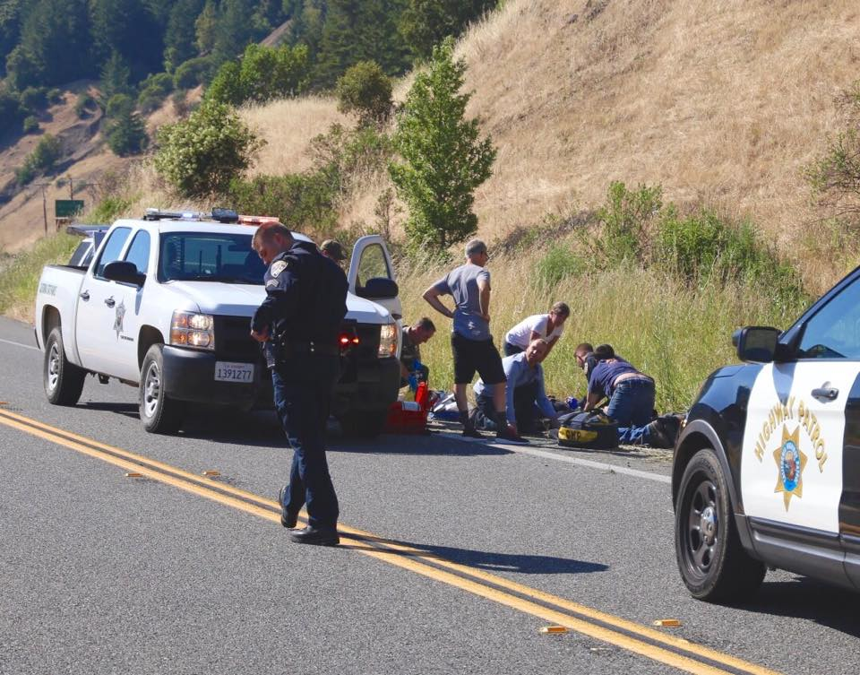 Medevac Dispatched to Motorcycle Crash on Highway 101 Near