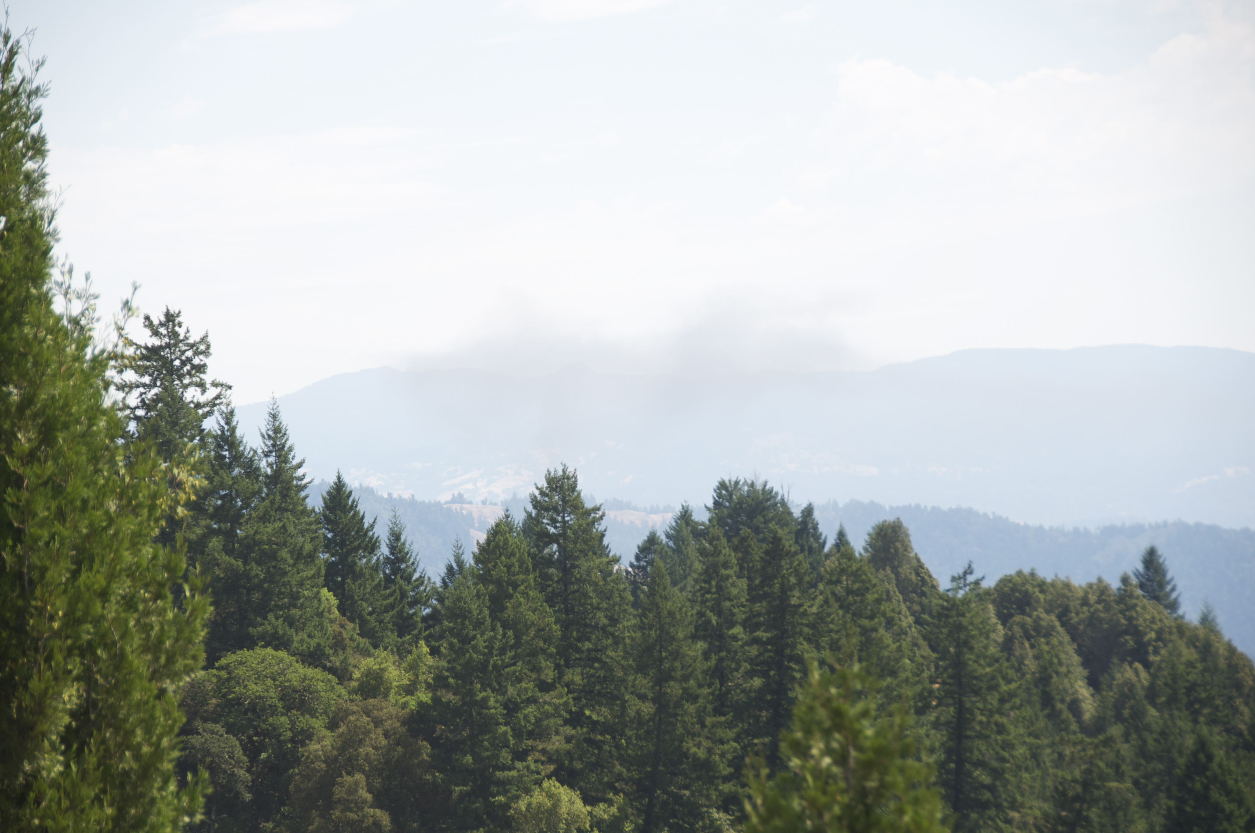Smoke from the fire can be seen from upper Salmon Creek.