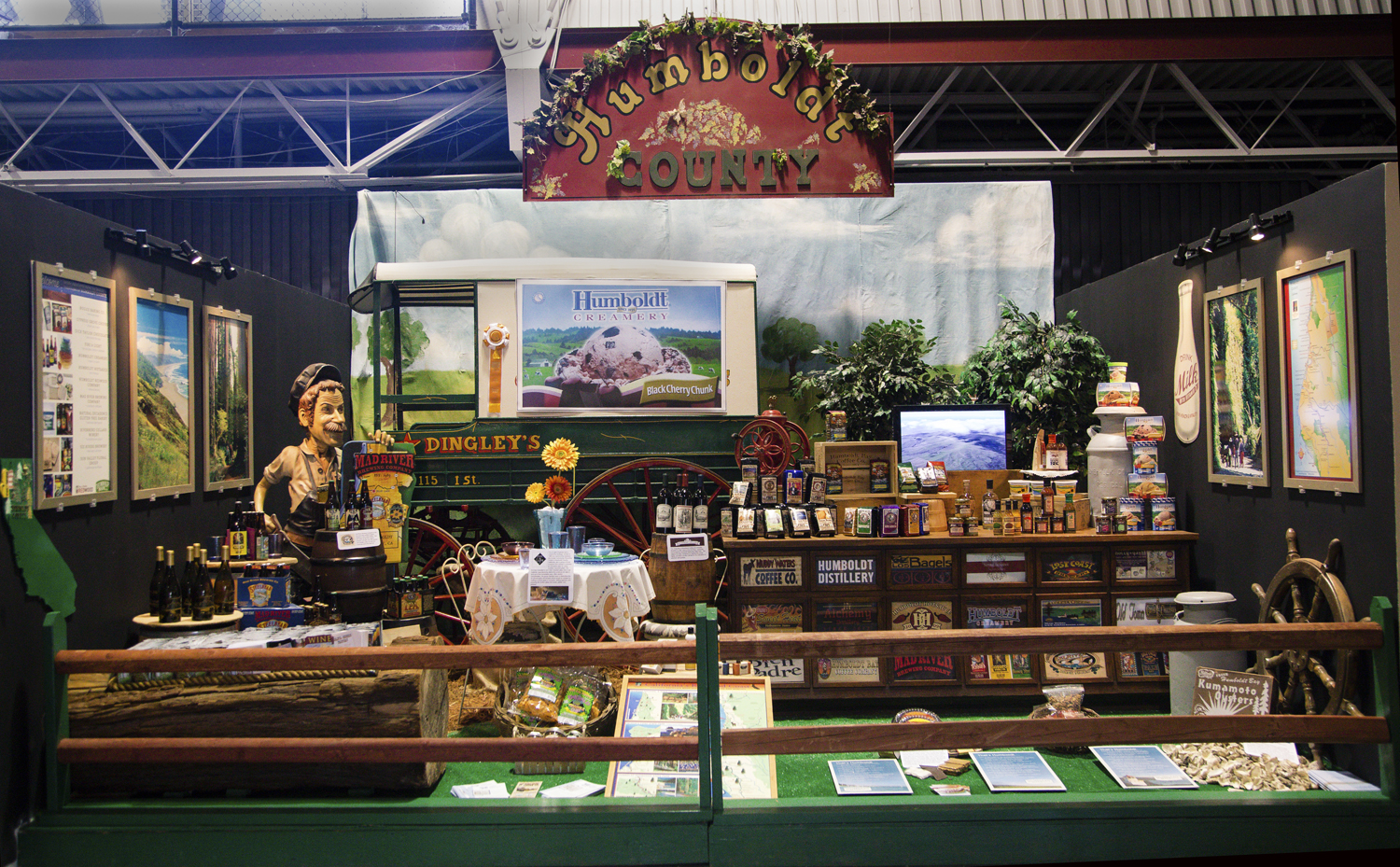 Humboldt County's products shown in gold medal winning display at