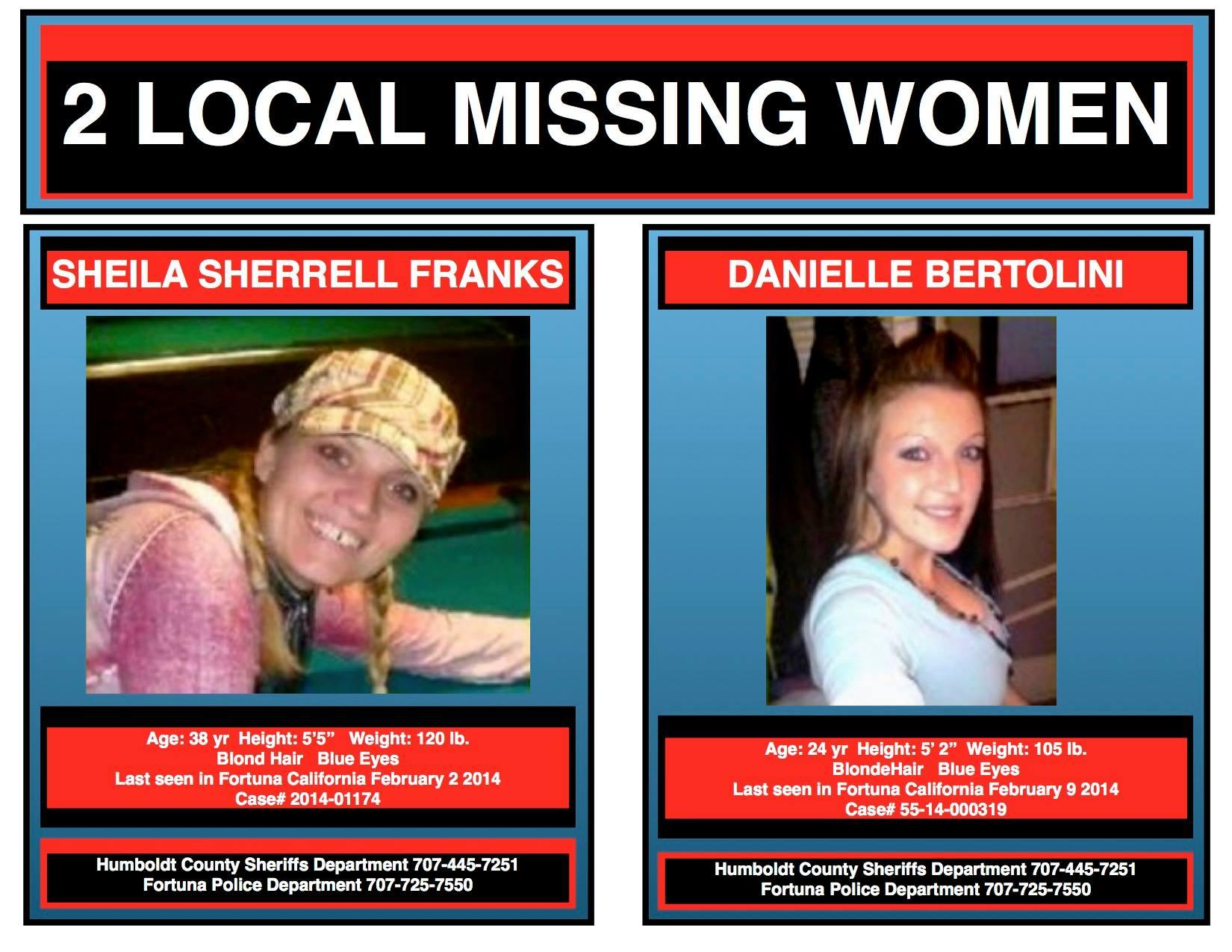 Missing: Jessica Nieman, Danielle Bertolini, Sheila Franks