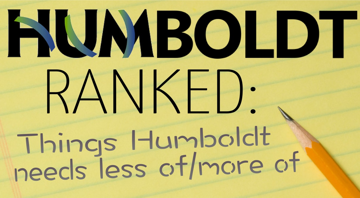 Humboldt Ranked: List Things Humboldt Needs Less Of/More Of