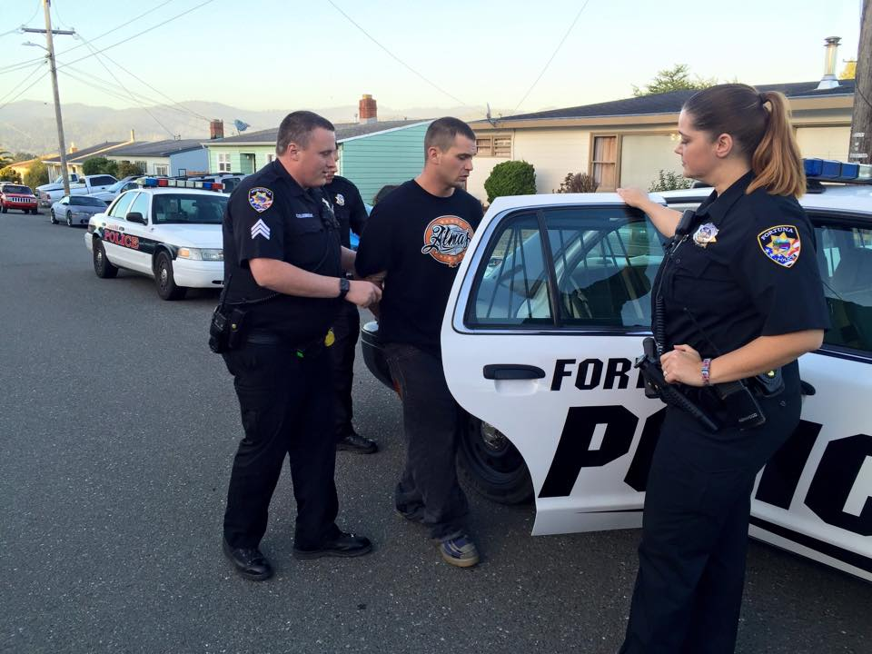 busted fortuna pd takes rio dell police escapee into