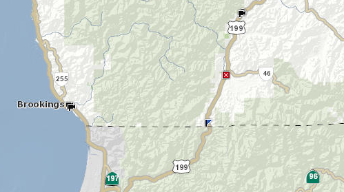 Updated Highway 199 Closed Near California Oregon Border