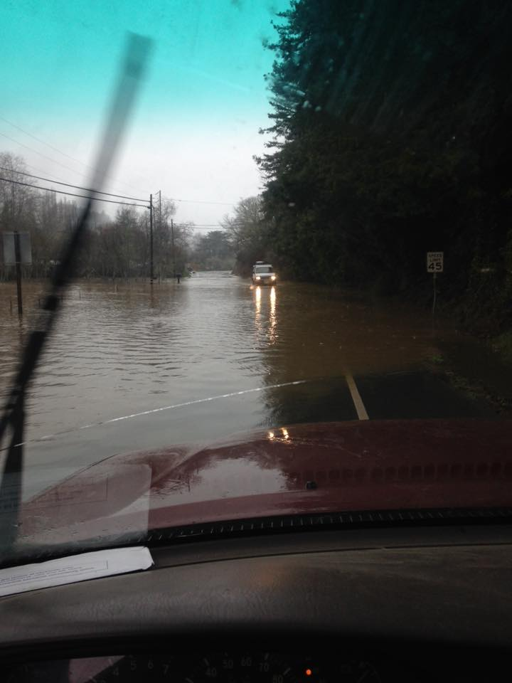 UPDATED) Roads Closed, Flood Warnings Issued as Rain