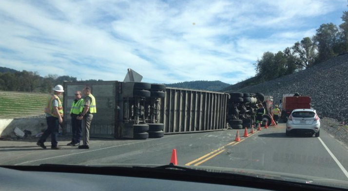 Highway 101 Traffic Slowed by Rolled-Over Big Rig | Lost ...