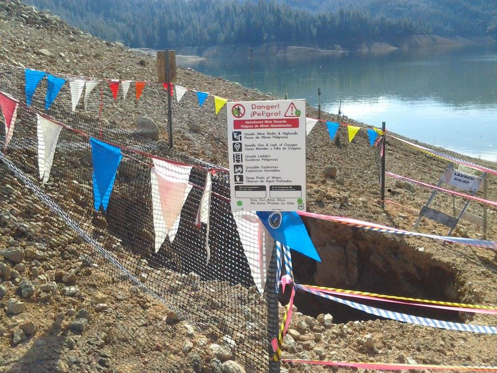 Old Abandoned Mine Shaft Resurfaces After Rainy Day at Shasta Lake