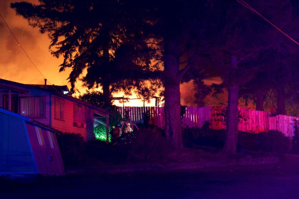 huge house fire on blue lake boulevard last night lost House On Fire House On Fire