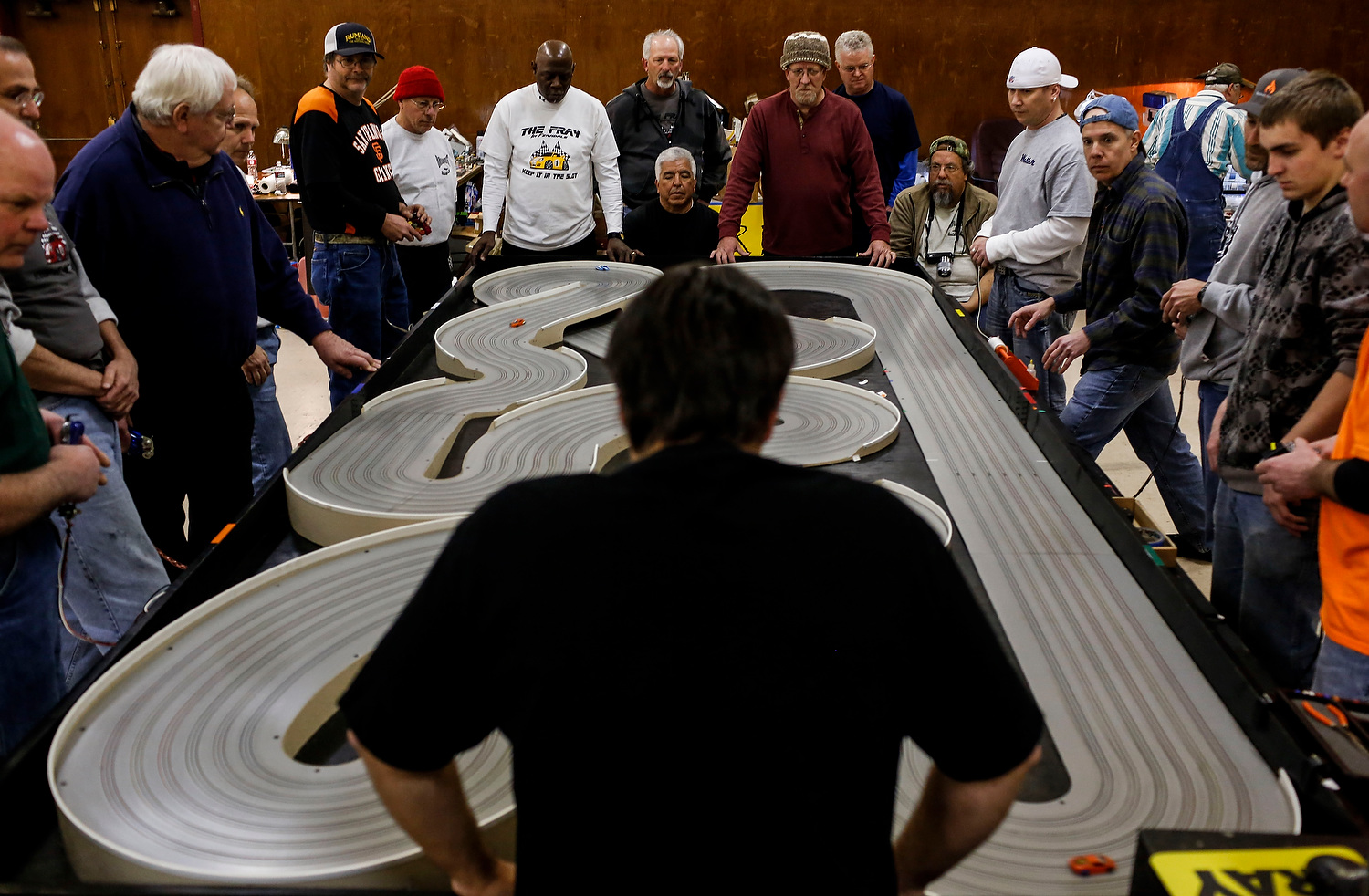 98 professional slot car racers are taking part in the The Fray in